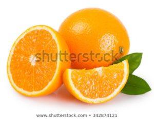 オレンジの断面
