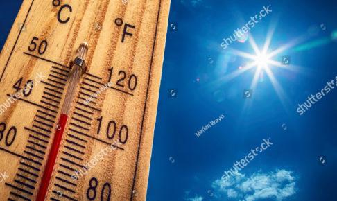 真夏の気温計